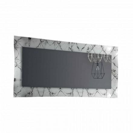 Espelho retangular de design com moldura de vidro Made in Italy - Eclisse