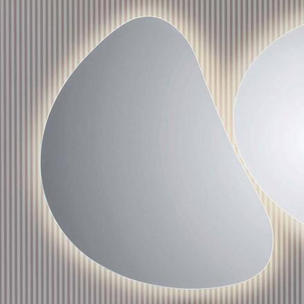 Pirro LED retroiluminado espelho do banheiro, design moderno