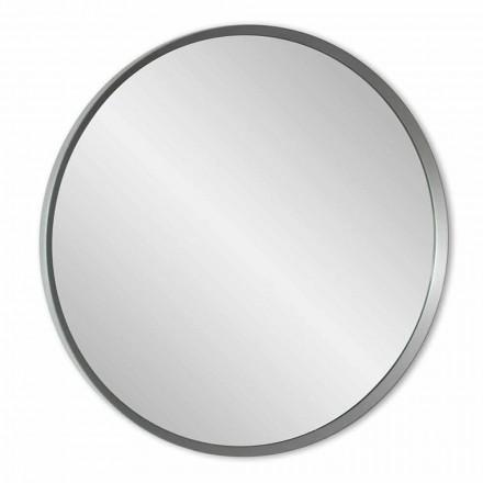Espelho de parede redondo com moldura lacada de design moderno e elegante - Odosso