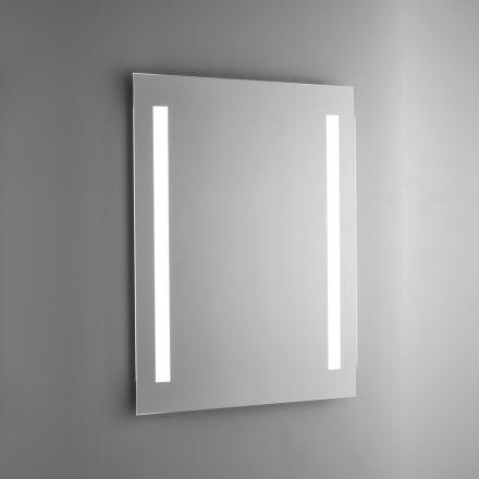 Espelho de banheiro de arame polido com retroiluminação LED Made in Italy - Tony