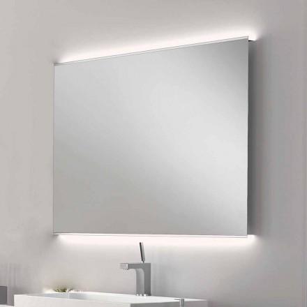 Veva LED espelho do banheiro com bordas foscas, design moderno