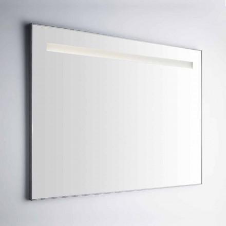 Espelho de banheiro de parede com moldura em Simil Alumínio Made in Italy - Tobi