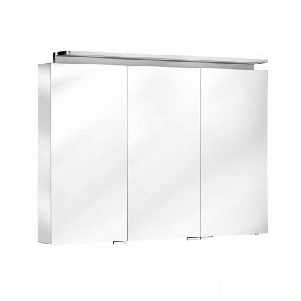 Espelho para banheiro com 3 portas e prateleiras internas - Bramo