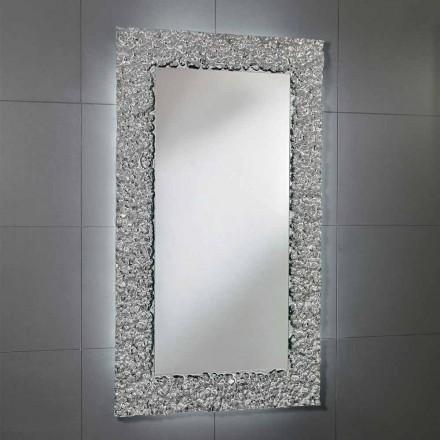 Cecilia espelho do banheiro com moldura de vidro, design moderno