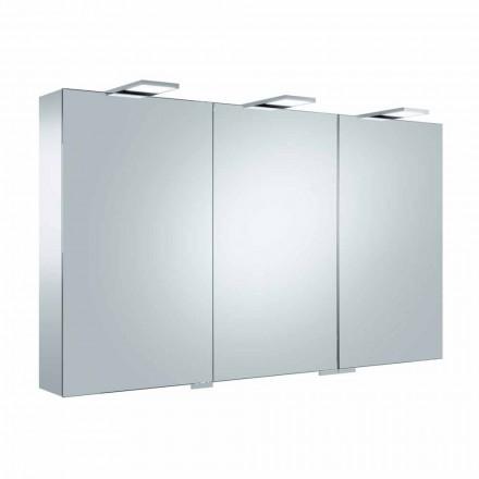 Espelho Container com 3 Portas com 9 Prateleiras Internas e Iluminação LED - Catraca