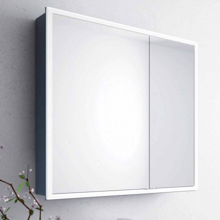 Adele gabinete espelho com 2 portas e luz LED, design moderno