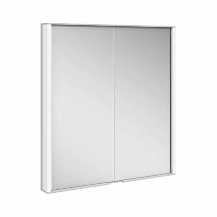 Gabinete de espelho em alumínio pintado de prata, moderno - Demon