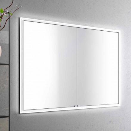 Adele recessed armário de espelho com 2 portas e luzes LED