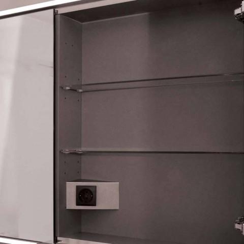 Espelho de porta do diodo emissor de luz do projeto contemporâneo recessed contemporâneo de 2 portas, Adele