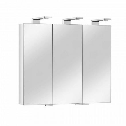 Recipiente de espelho com 3 portas de cristal e 3 luzes LED, preciosas - Maxi