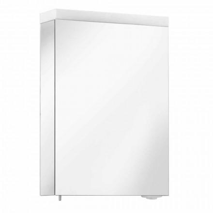 Container de Espelhos com Porta Articulada e Iluminação LED de Alta Qualidade - Alfio