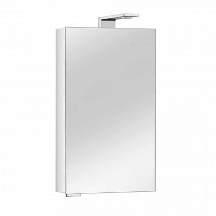 Gabinete de espelho com porta de cristal e detalhes cromados, moderno - Maxi