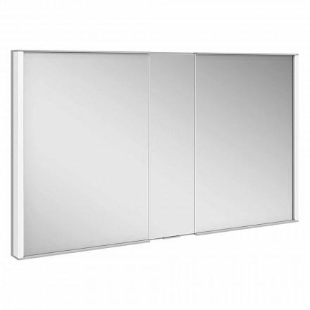 Luxuoso gabinete espelho embutido, luz LED e teclado sensível ao toque - Demon