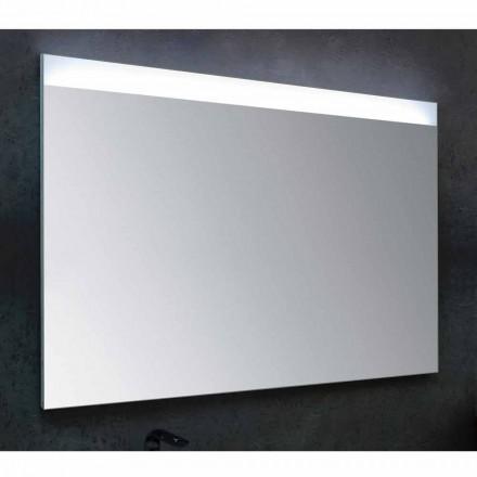 Espelho do banheiro Yvone com luz LED, design moderno