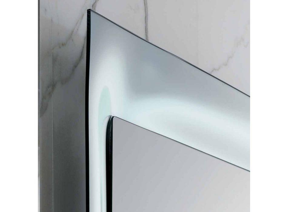 Espelho para banheiro Arin moldura de alumínio fundido prateado