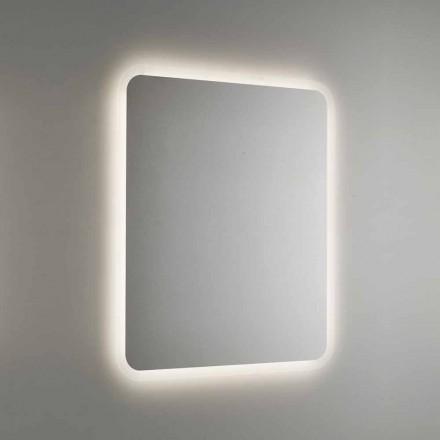 Espelho redondo para banheiro com luz de fundo LED Made in Italy - Pato
