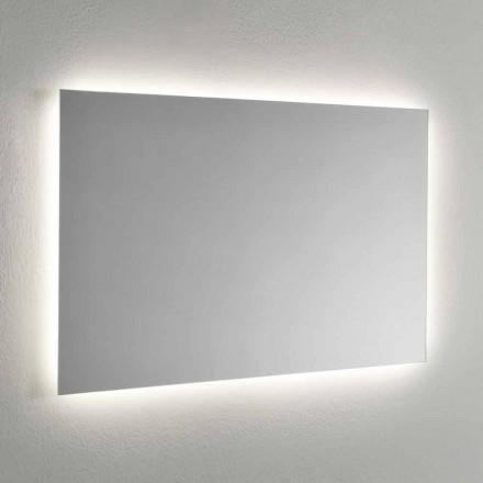 Espelho de parede com retroiluminação LED nas 4 faces Fabricado na Itália - Romio