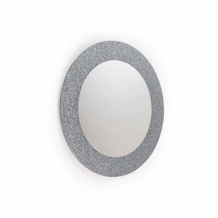Espelho de parede Auro, design moderno, feito na Itália, glitter e vidro