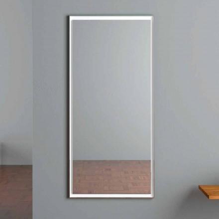 Espelho de parede iluminado com LED com interruptor de toque feito na Itália - Ammar