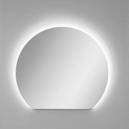 Espelho de parede moderno com detalhes jateados e LED Made in Italy - Rialto