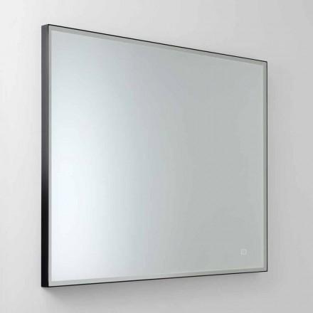 Espelho Quadrado de Parede com LED em Vidro Cetim Made in Italy - Mirro