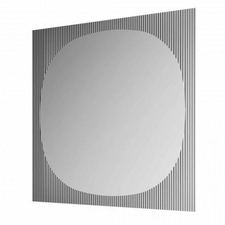Espelho de parede quadrado moderno na cor Smokey fabricado na Itália - Bandolero