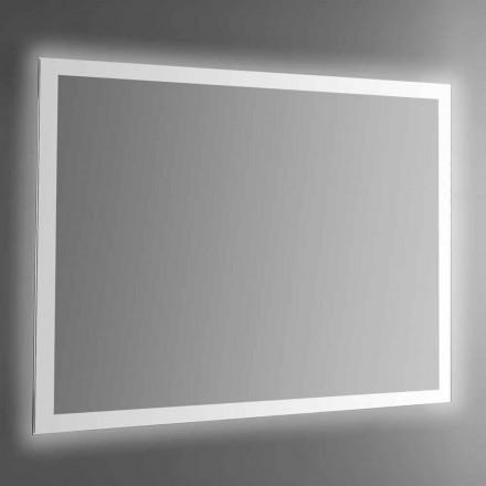 Espelho de parede retroiluminado com moldura jato de areia Made in Italy - Edigio
