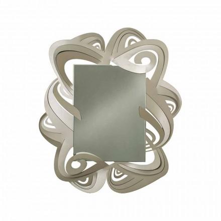 Espelho retangular moderno de parede de ferro fabricado na Itália - Penny