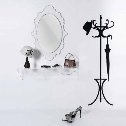Espelho de parede transparente com um design moderno Joy, made in Italy