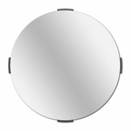 Espelho de parede moderno com cantilever de design redondo com moldura - Odosso