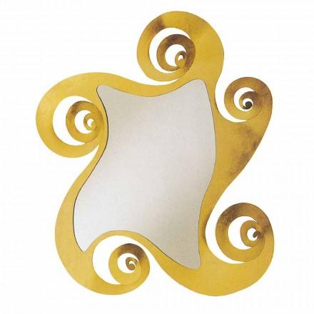 Espelho de parede de design moderno com forma de ferro fabricado na Itália - Pacífico