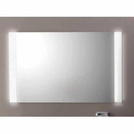 Espelho de casa de banho Agata com luz LED, L1200xh.900 mm