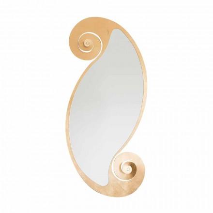 Espelho de parede oval de design moderno em ferro fabricado na Itália - Pacífico