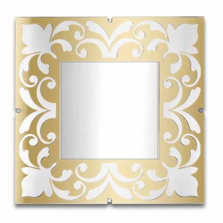 Moldura de espelho quadrada em Plexiglass Gold, Bronze, Silver Design - Foscolo