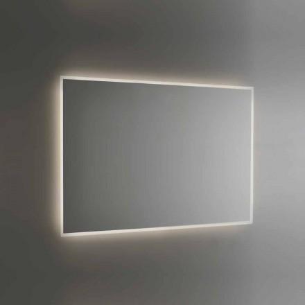 Espelho de banheiro retroiluminado com moldura jato de areia Made in Italy - Floriana