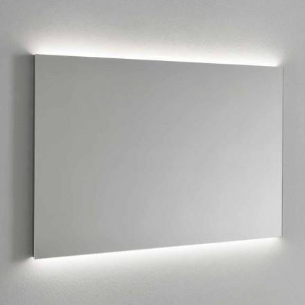 Espelho de parede retroiluminado LED, estrutura de aço feito na Itália - Tundra