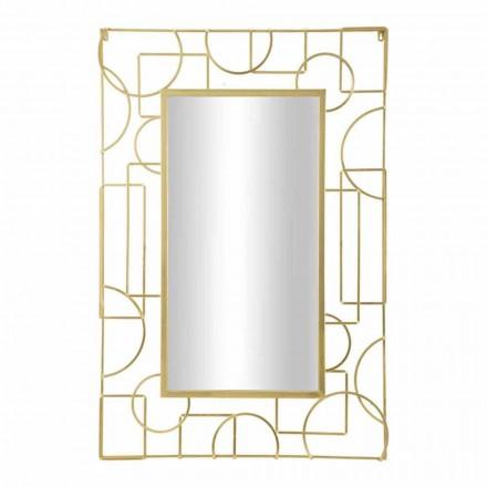 Espelho retangular de parede de ferro com design moderno - Pliny