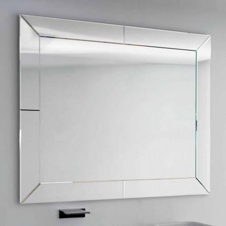 Dedalo espelho do banheiro moderno com moldura de vidro, H120xL120 cm