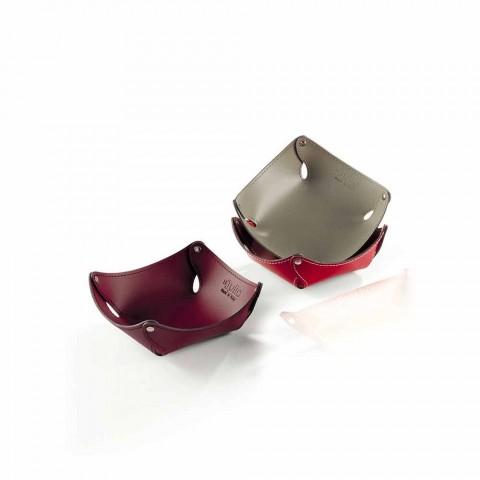 Bandeja de bolso moderna em couro de argila