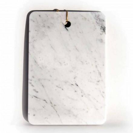 Tábua Made in Italy Design em Mármore Branco de Carrarra - Masha