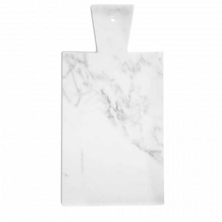Tábua de corte moderna em mármore branco de Carrara fabricado na Itália - Biblon