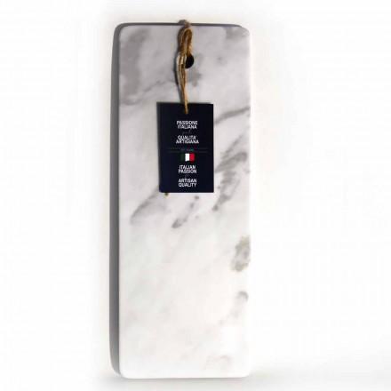 Tábua de corte retangular em mármore branco Carrara Made in Italy - Masha