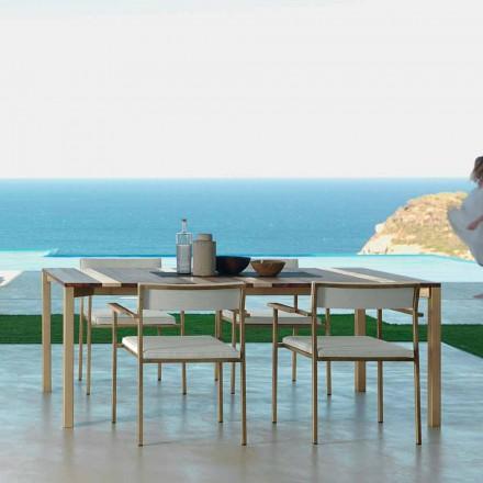 Mesa de jantar ao ar livre Casilda por Talenti, L260 x H76 cm made in Italy