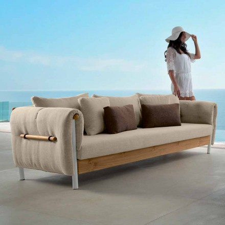 Sofá de jardim de design Talenti Domino feito na Itália