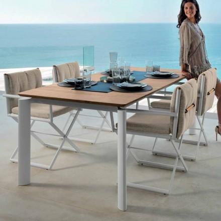 Mesa extensível para uso externo Domino by Talenti, 160/215 cm made in Italy