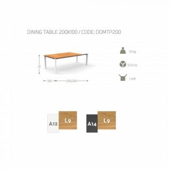 Mesa de jardim extensível Talenti Domino 200/260 cm feita na Itália