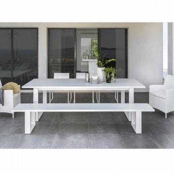 Banco de jardim Talenti Essence em alumínio branco fabricado na Itália