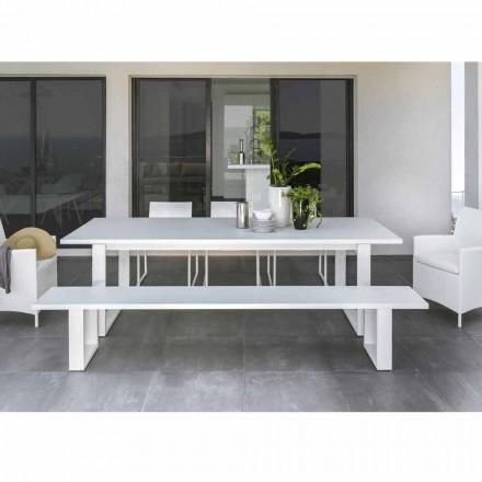 Banco ao ar livre Essence by Talenti, alumínio branco, fabricado na Itália