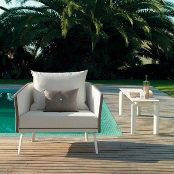 Banco de jardim de design moderno Talenti Milo feito na Itália