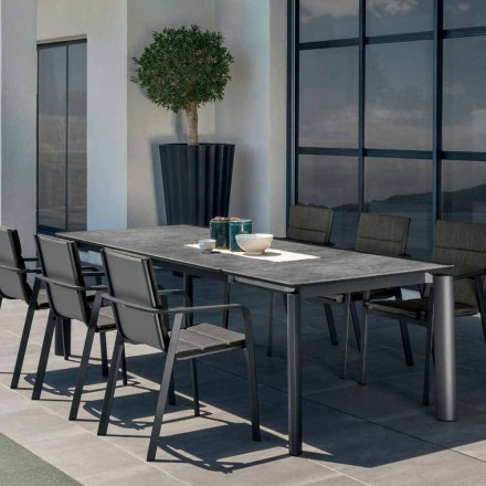 Mesa de jantar extensível para exterior Milo by Talenti, design moderno